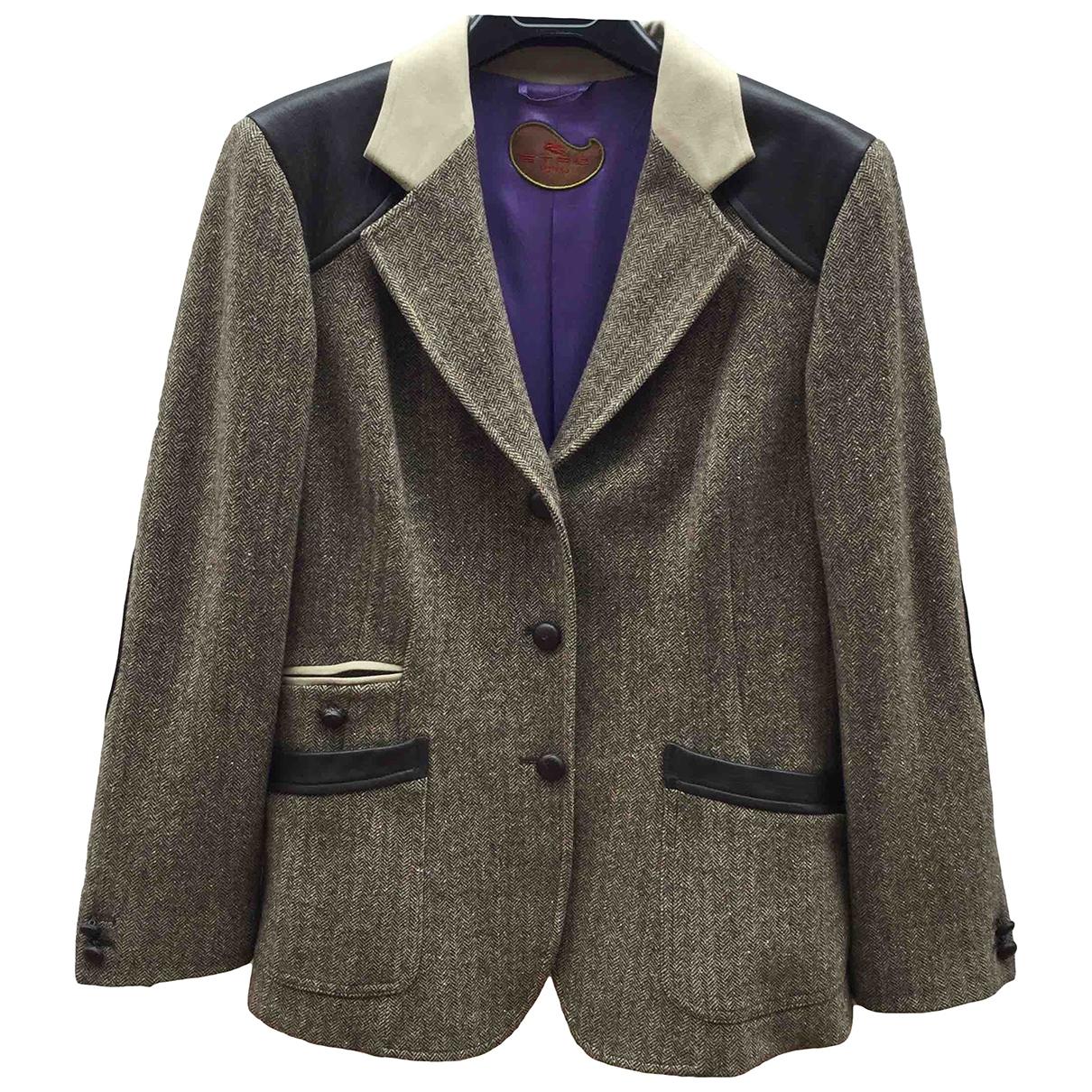 Etro \N Brown Wool jacket for Women 42 IT