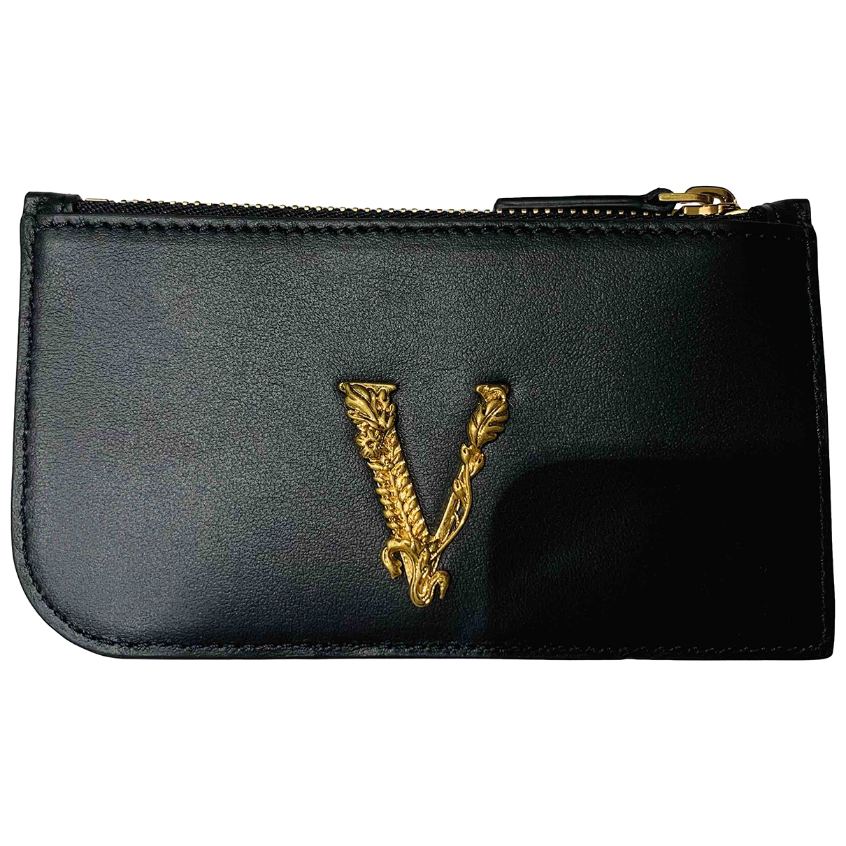 Versace \N Black Leather Purses, wallet & cases for Women \N