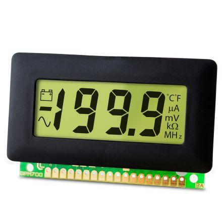 Lascar Digital Voltmeter DC, LCD Display 3.5-Digits ±1 %, 62 x 32 mm