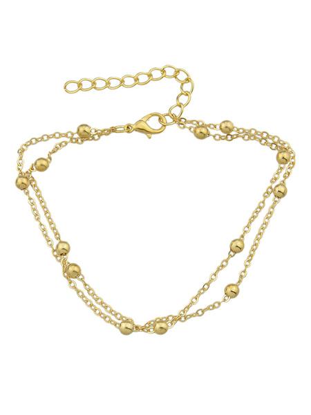Milanoo Beach Anklet Silver Chain Ankle Bracelet Women Jewelry
