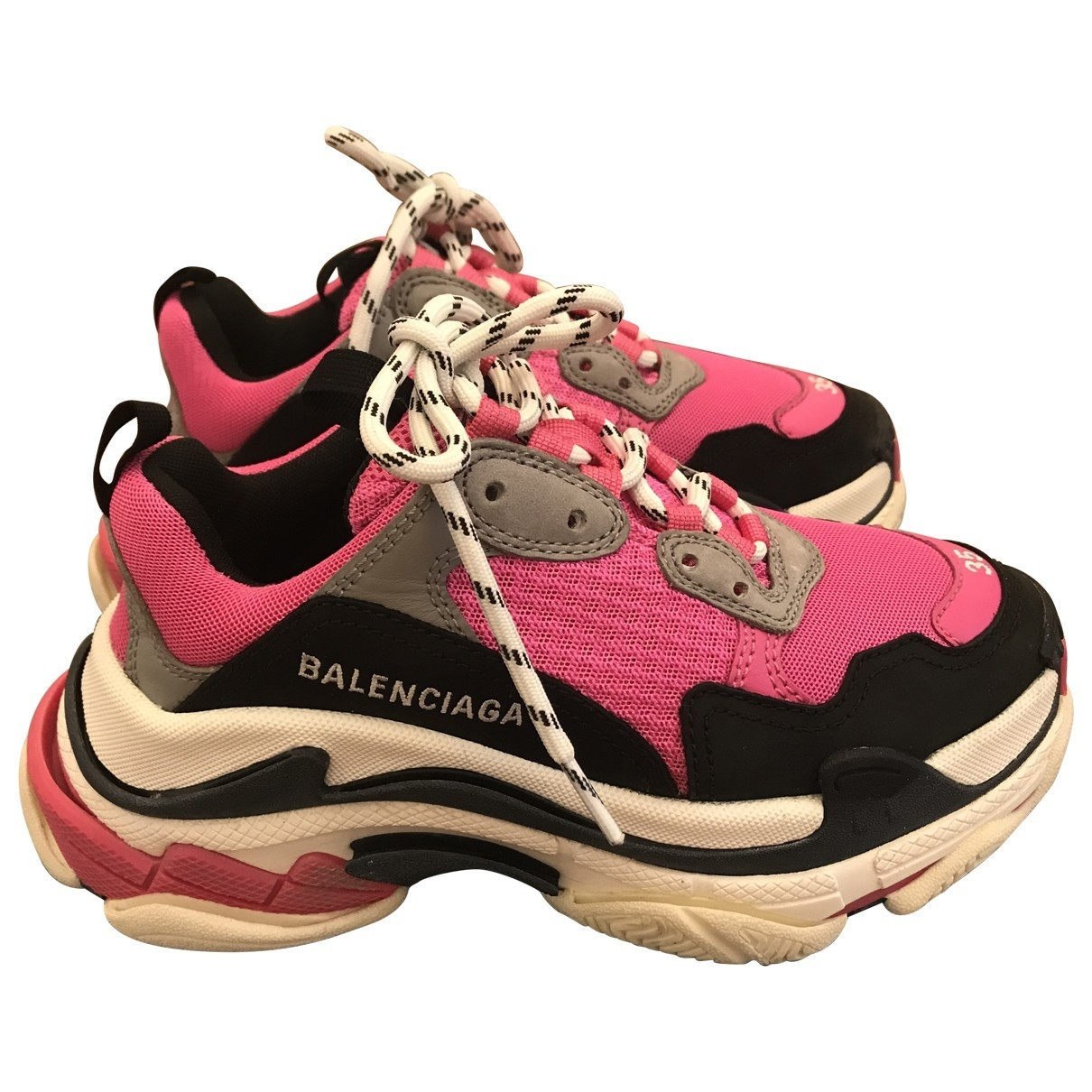 Balenciaga Triple S Pink Leather Trainers for Women 35 EU