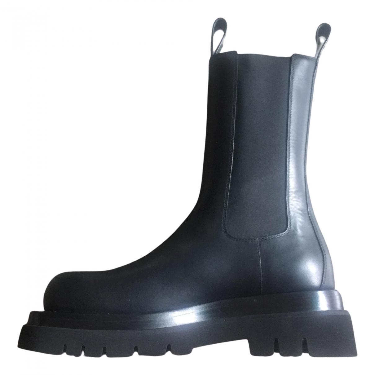 Bottega Veneta \N Black Leather Boots for Women 37 EU