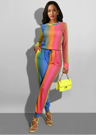 Multi Color Long Sleeve Sun Protection Jumpsuit - 16