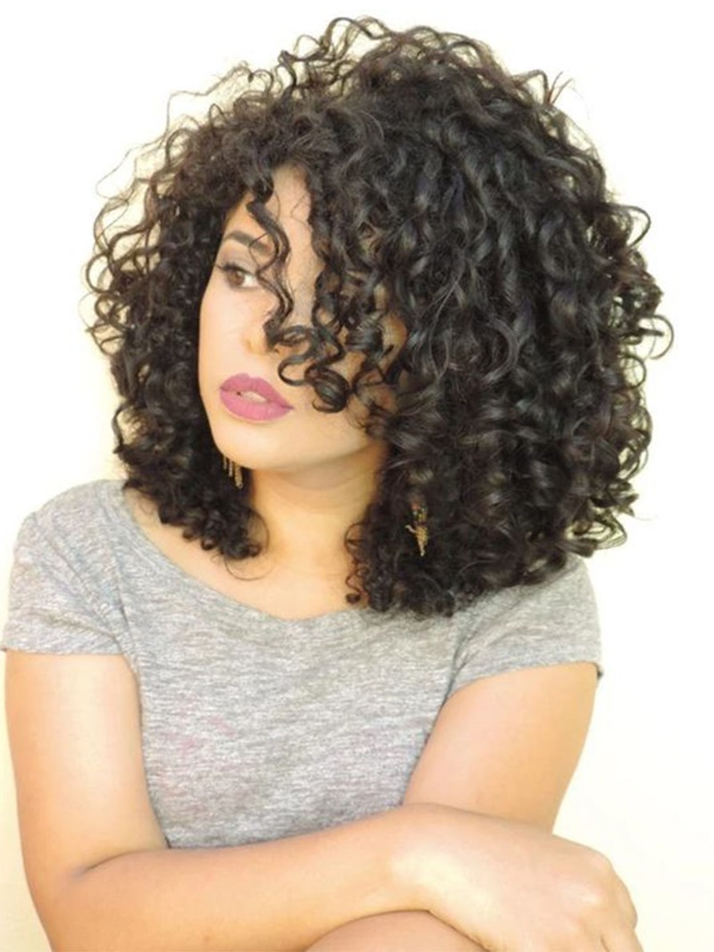 Ericdress Natural Looking Women's Bob Hairstyle Curly Synthetic Hair Capless Wigs 16Inch