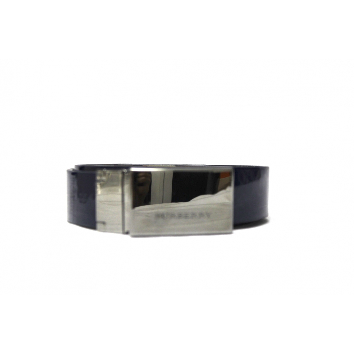 Burberry \N Blue Patent leather belt for Women 95 cm
