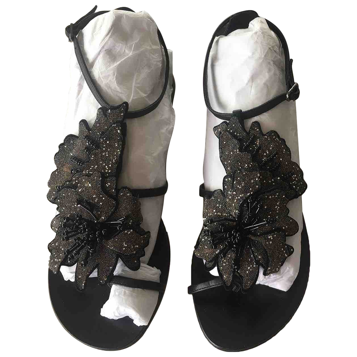 Lola Cruz \N Black Leather Sandals for Women 40 IT