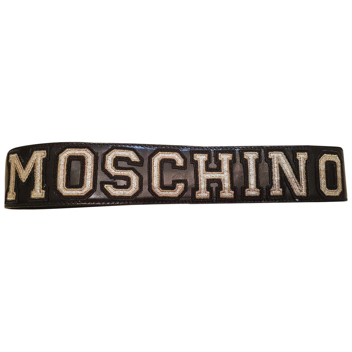 Moschino \N Black Leather belt for Women 80 cm