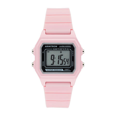 Armitron Pro Sport Womens Chronograph Pink Strap Watch-40/8447pnk, One Size , No Color Family