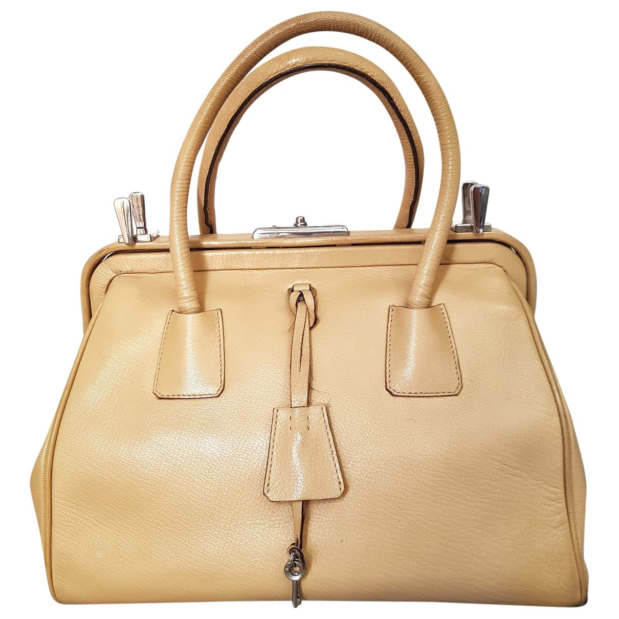 Prada \N Beige Leather handbag for Women \N