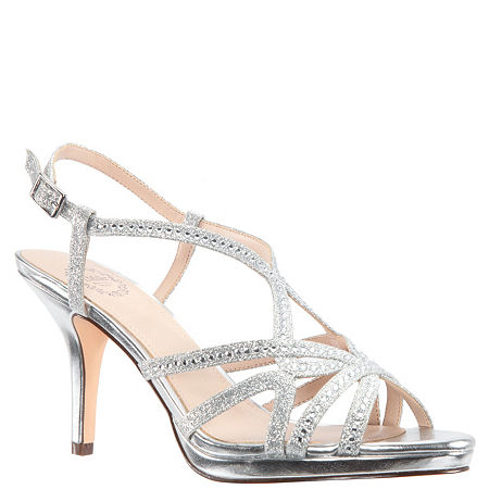 I. Miller Womens Vilina Pumps Cone Heel, 8 1/2 Medium, Silver