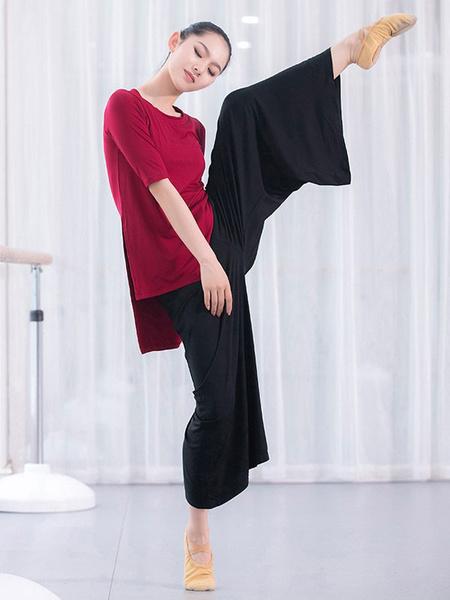 Milanoo Women Latin Dance Uniform Pant Modal Pleated Wide Leg Dancer Dancing Wears Halloween