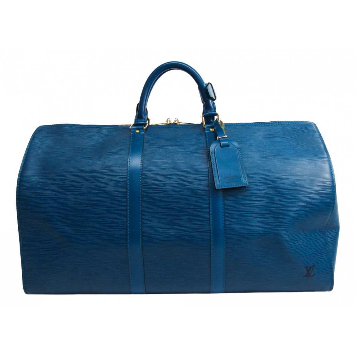 Louis Vuitton Keepall Blue Leather Travel bag for Women \N