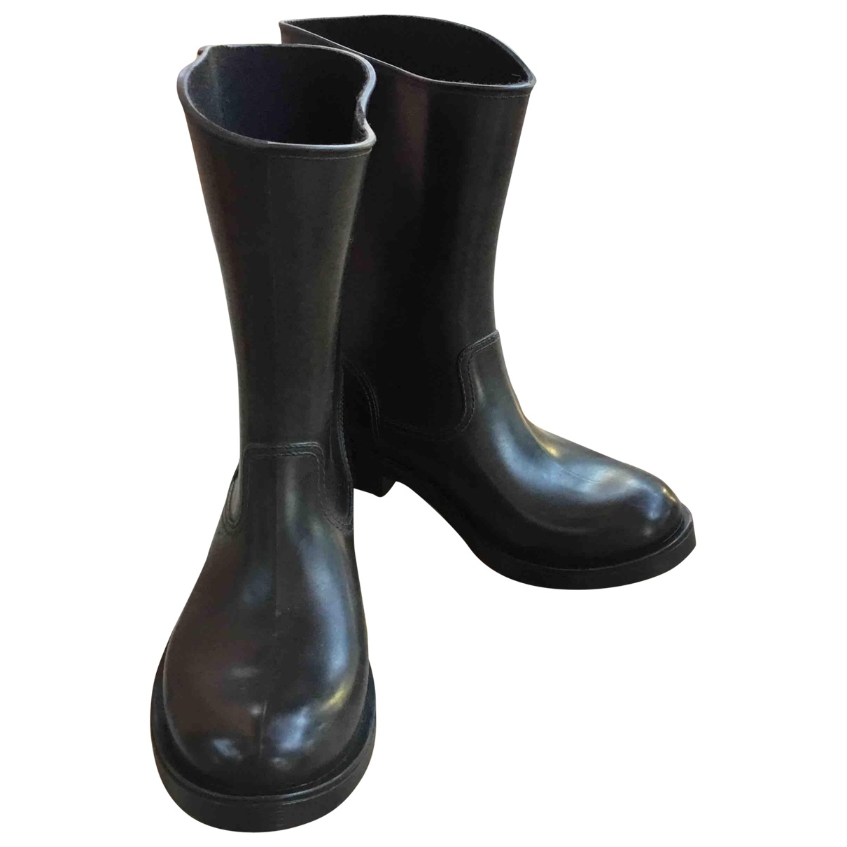 Carshoe \N Black Rubber Boots for Women 39 EU