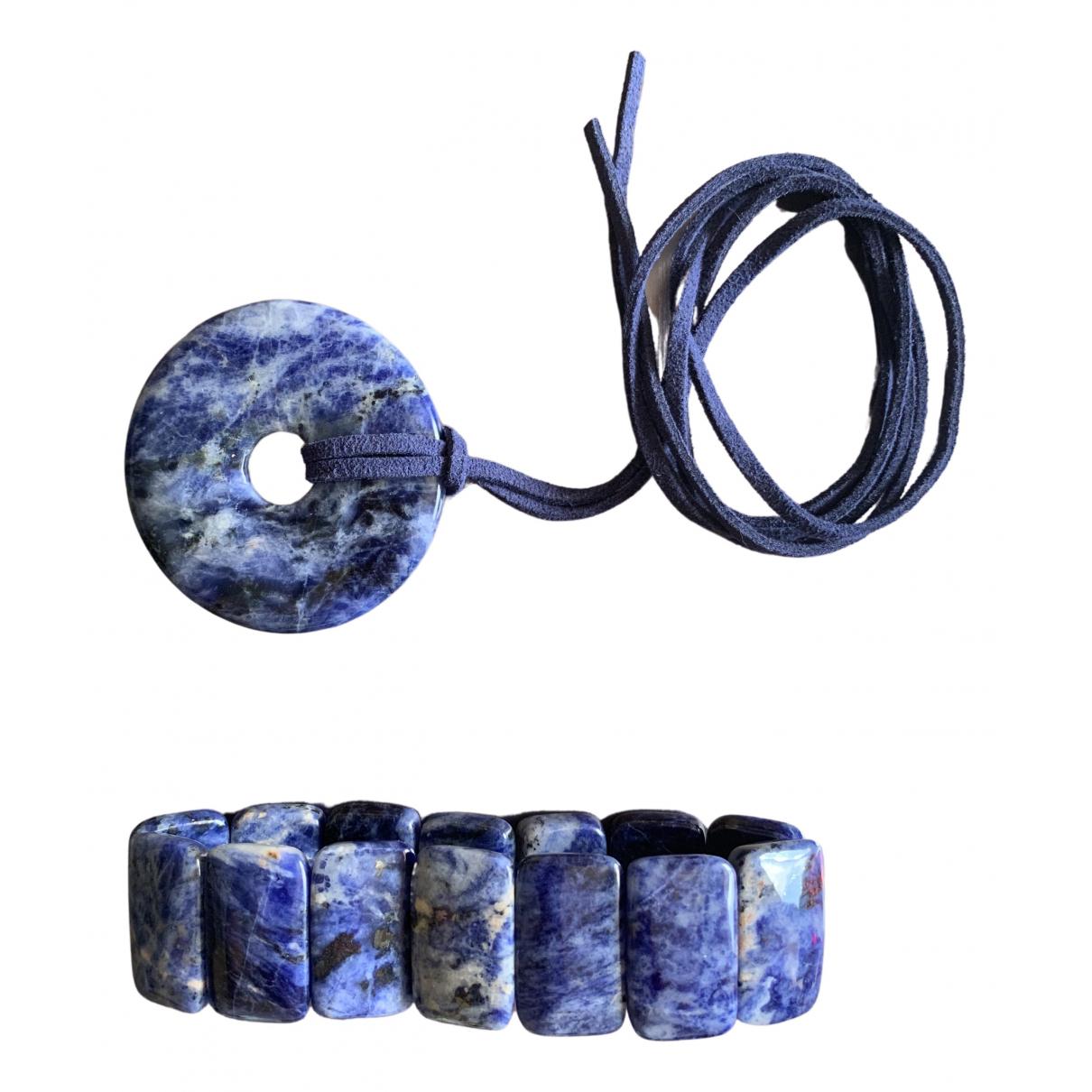 Non Signé / Unsigned Lapis lazuli Blue Pearls bracelet for Women \N