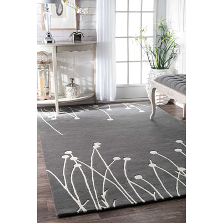 nuLoom Hand Tufted Daza Rug, One Size , Gray