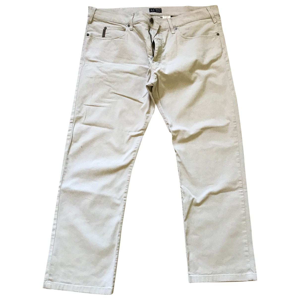 Armani Jeans \N Grey Cotton Trousers for Men 40 UK - US