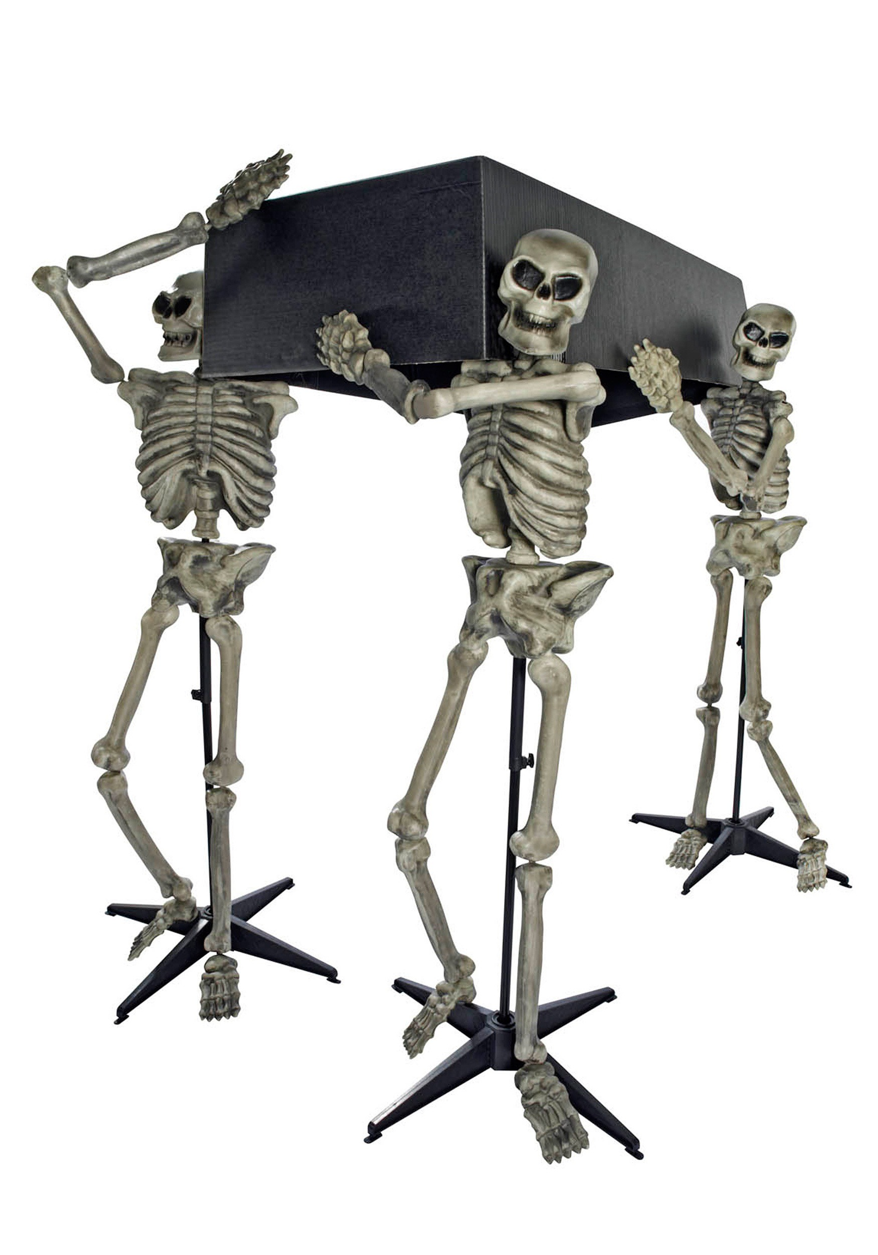 Skeleton Pall Bearers Halloween Decor