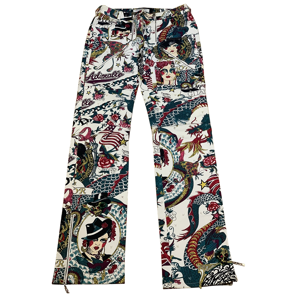 Dior \N Multicolour Cotton Jeans for Women 34 FR