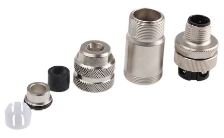 Binder Connector, 4 contacts Cable Mount M12 Socket, Screw IP67