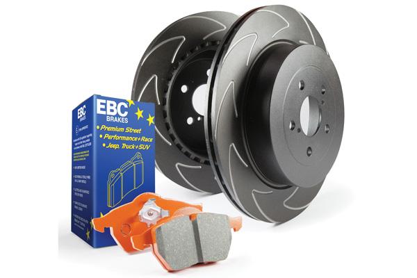EBC Brakes S7KR1054 S7KR Kit Number REAR Disc Brake Pad and Rotor Kit ED91563+BSD7381 Rear