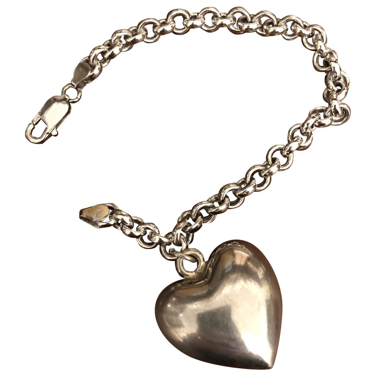 Non Signé / Unsigned Motifs Coeurs Silver Silver bracelet for Women \N