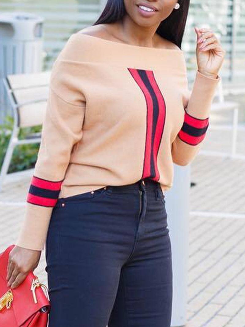 Ericdress Stripe Standard Oblique Collar Fall Sexy T-Shirt