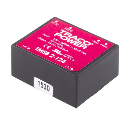 TRACOPOWER , 2W Embedded Switch Mode Power Supply SMPS, 24V dc, Encapsulated