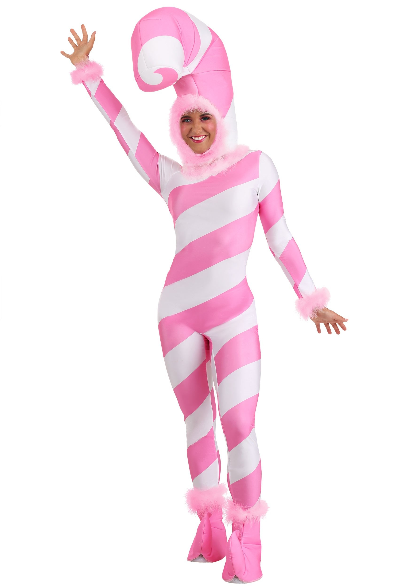 Pink Candy Cane Costume for Women