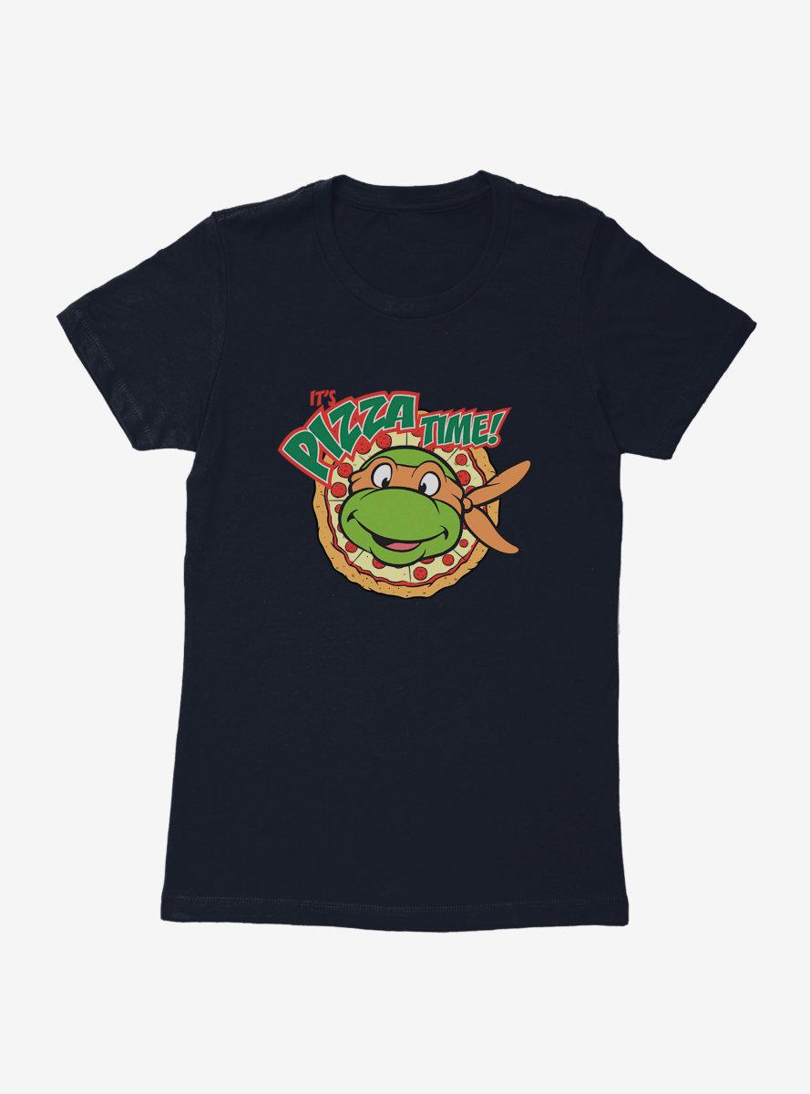 Teenage Mutant Ninja Turtles Michelangelo Pizza Time Womens T-Shirt