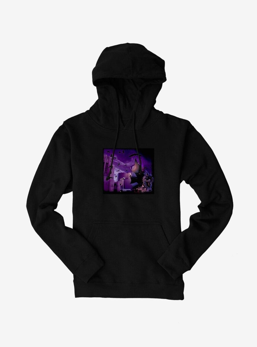 DC Comics Batman Gotham Purple Skyline Hoodie