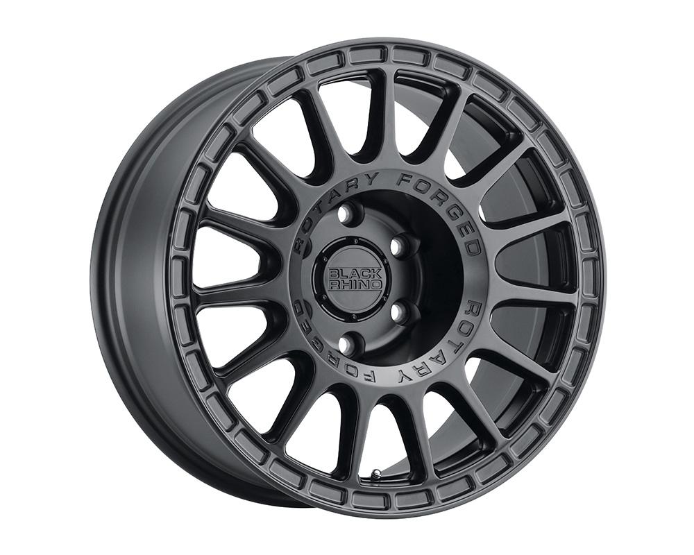 Black Rhino Sandstorm Wheel 18x8  5x108 35mm Semi Gloss Black w/Machined Dark Tint Ring