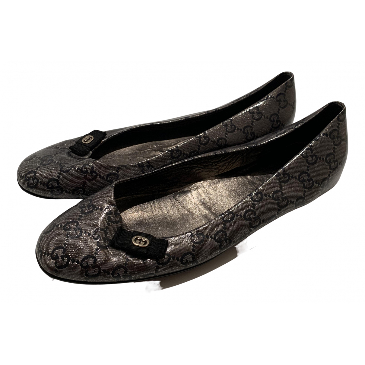 Gucci \N Grey Patent leather Ballet flats for Women 40 EU