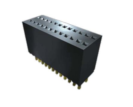 Samtec , SMS 1.27mm Pitch 20 Way 1 Row Straight PCB Socket, Through Hole, Solder Termination (22)