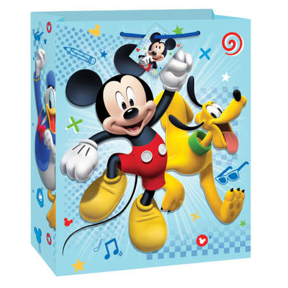 Mickey Mouse 1 Large Gift Bag For Birthday Party