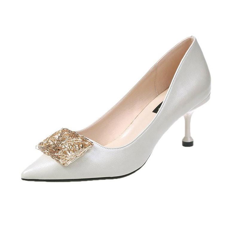 Ericdress Plain Sequin Pointed Toe Stiletto Heel Women's Pumps