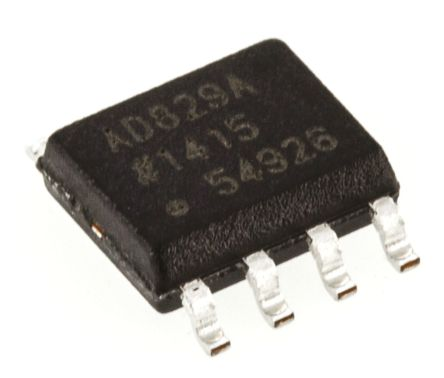 Analog Devices AD829ARZ , Video Amp, 600MHz 150V/μs, 8-Pin SOIC