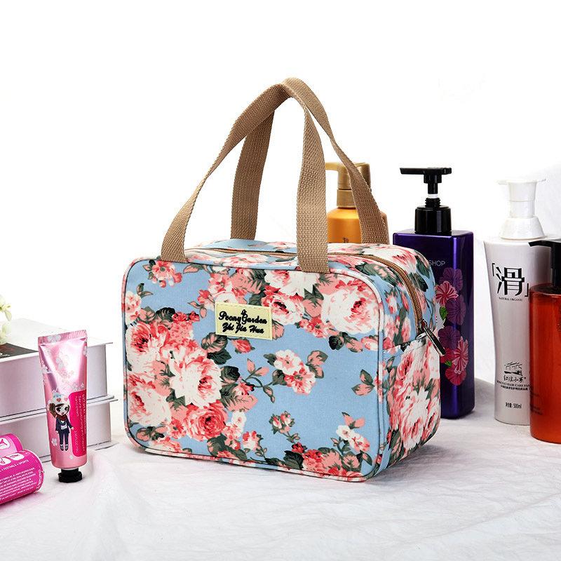 Women Print Nylon Waterproof Travel Bag Swim Wash Storage Bag