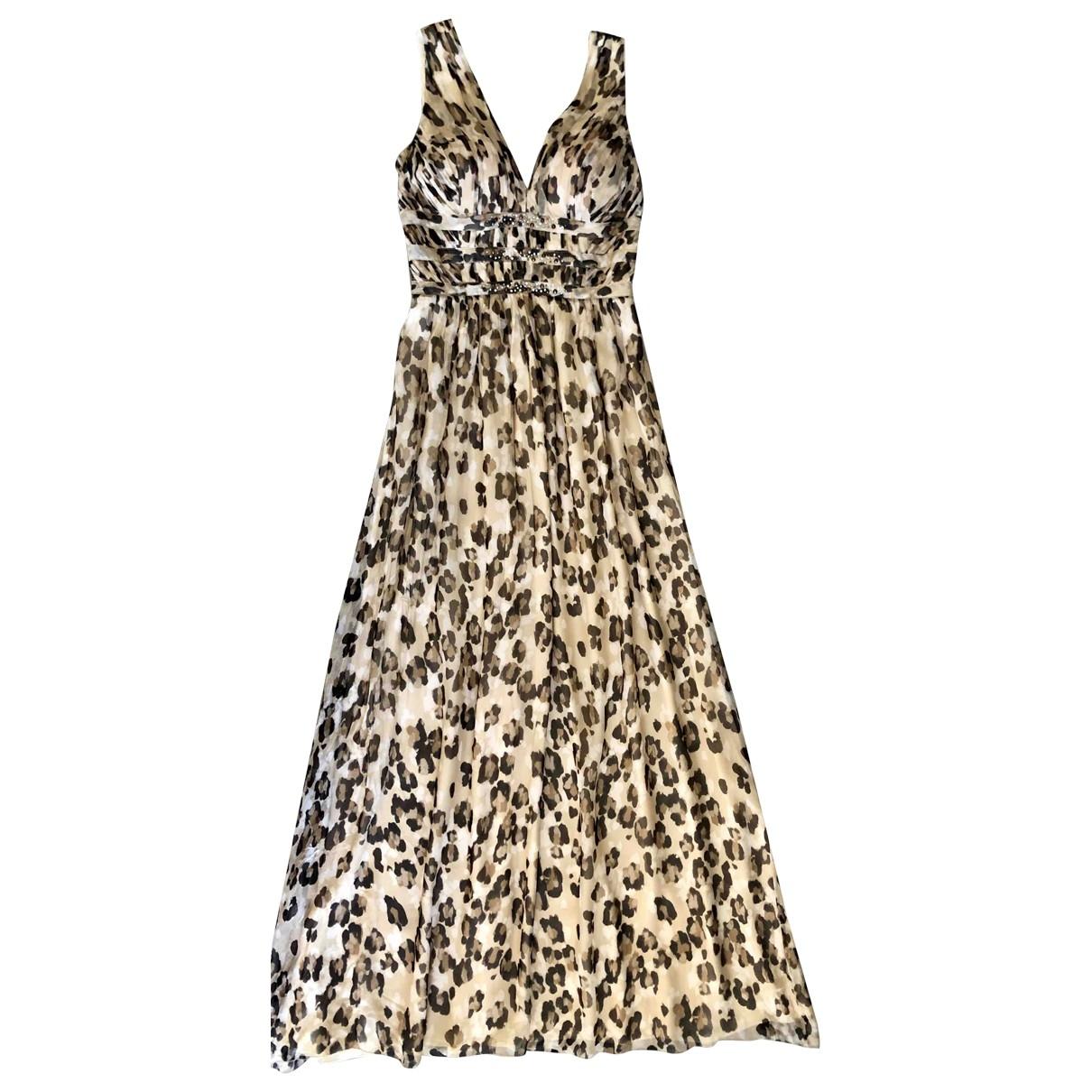 Blumarine \N Beige Silk dress for Women 44 IT
