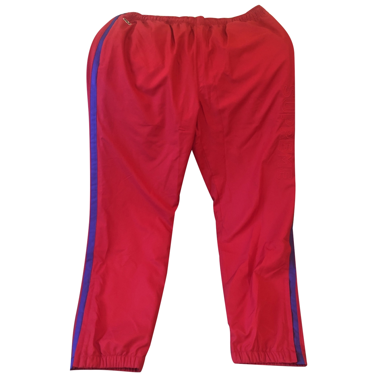 Lacoste X Supreme \N Red Trousers for Men L International
