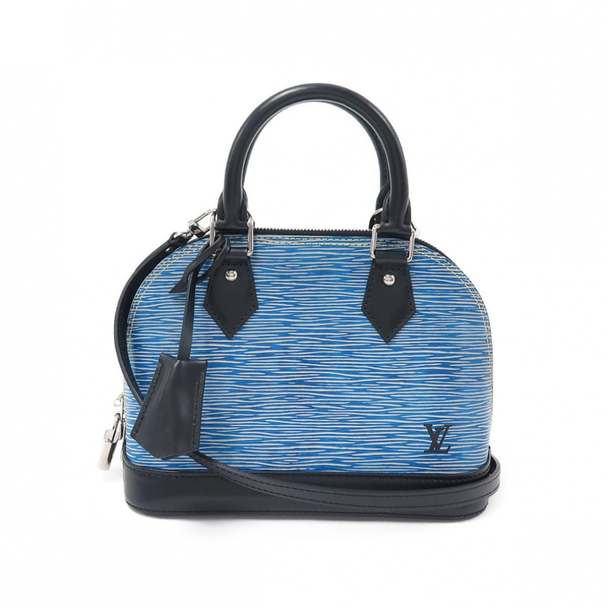 Louis Vuitton Alma BB Blue Leather handbag for Women \N