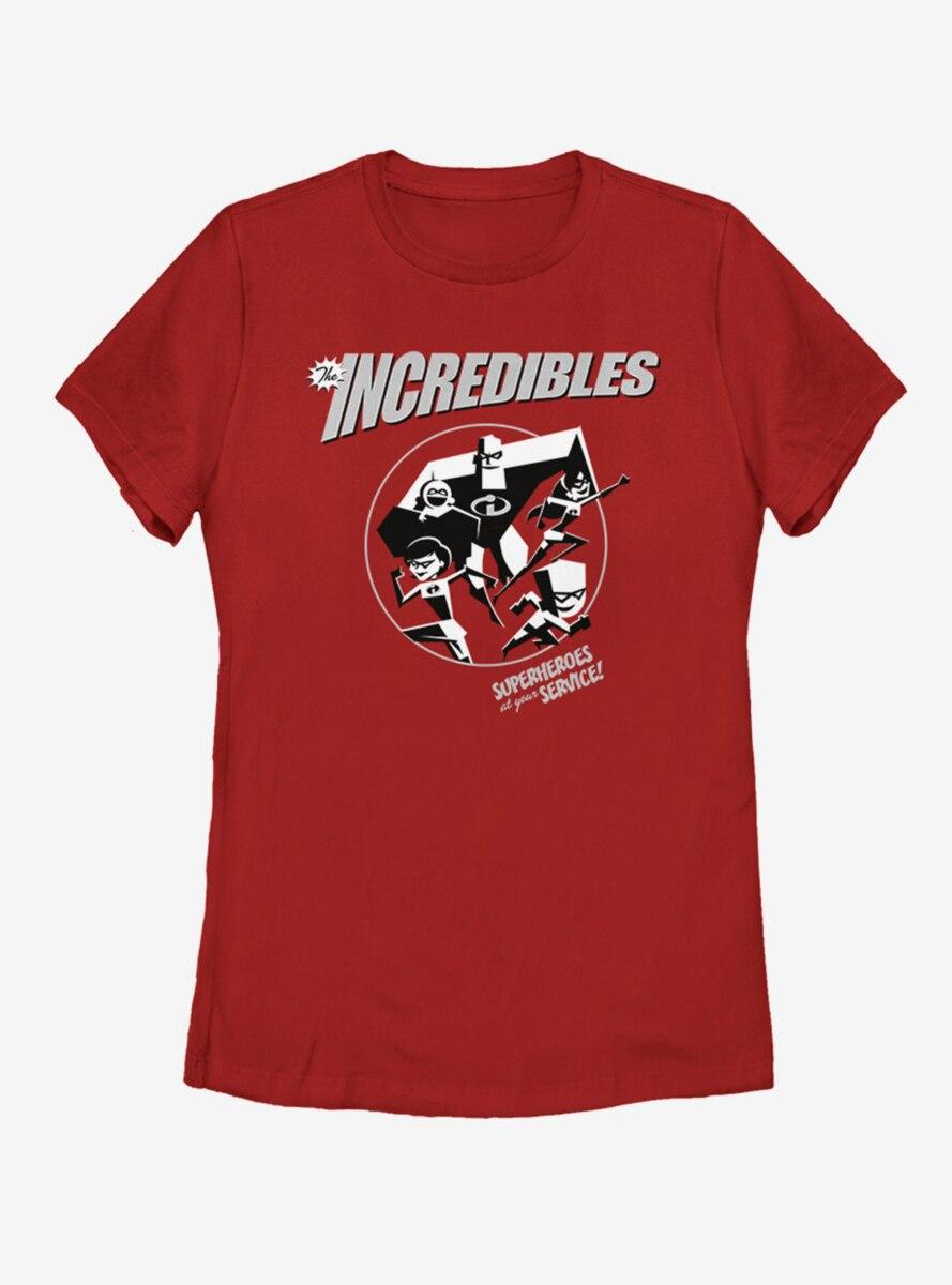 Disney Pixar The Incredibles BW Womens T-Shirt
