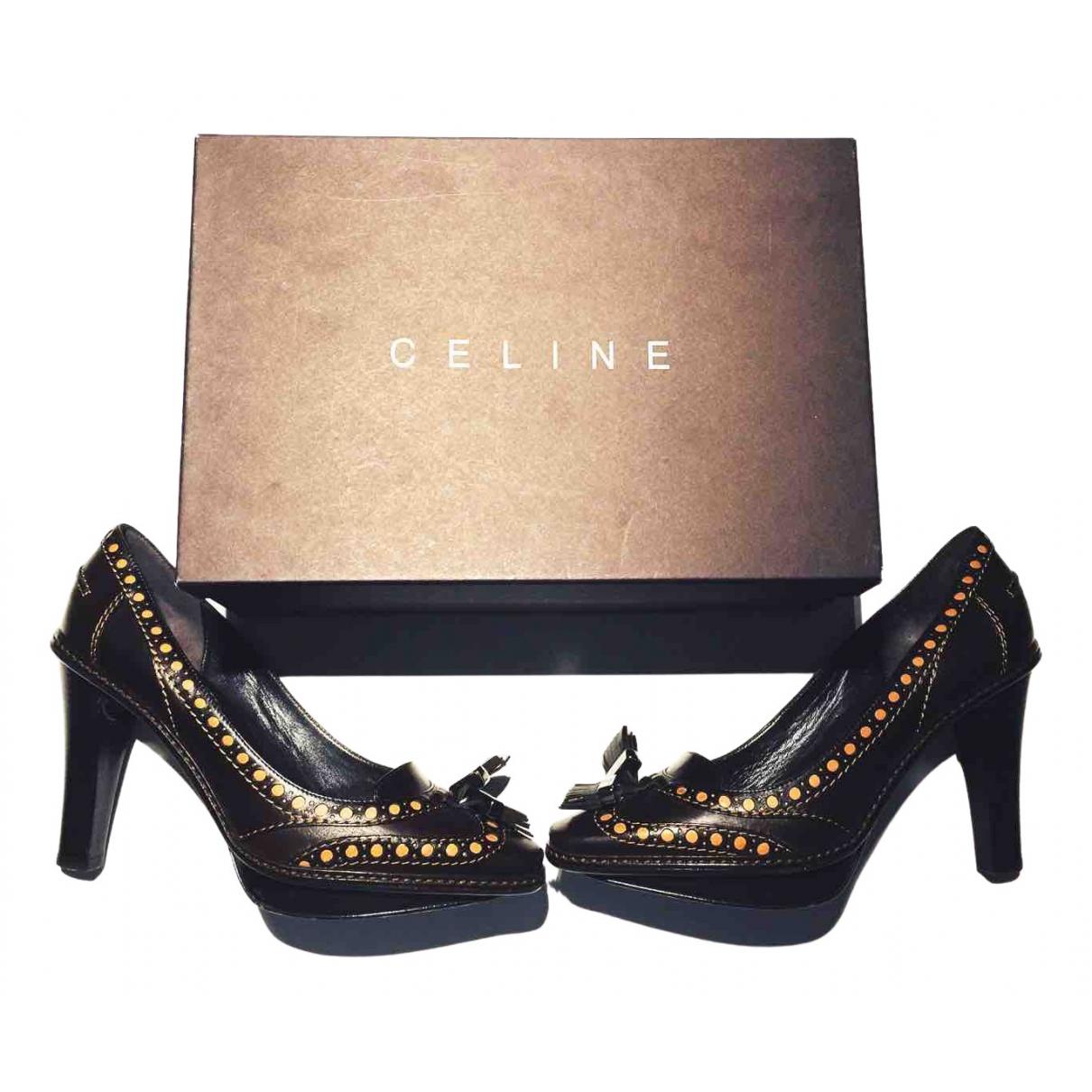Celine \N Brown Leather Heels for Women 36.5 EU