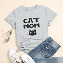 Letter And Cartoon Graphic Tee