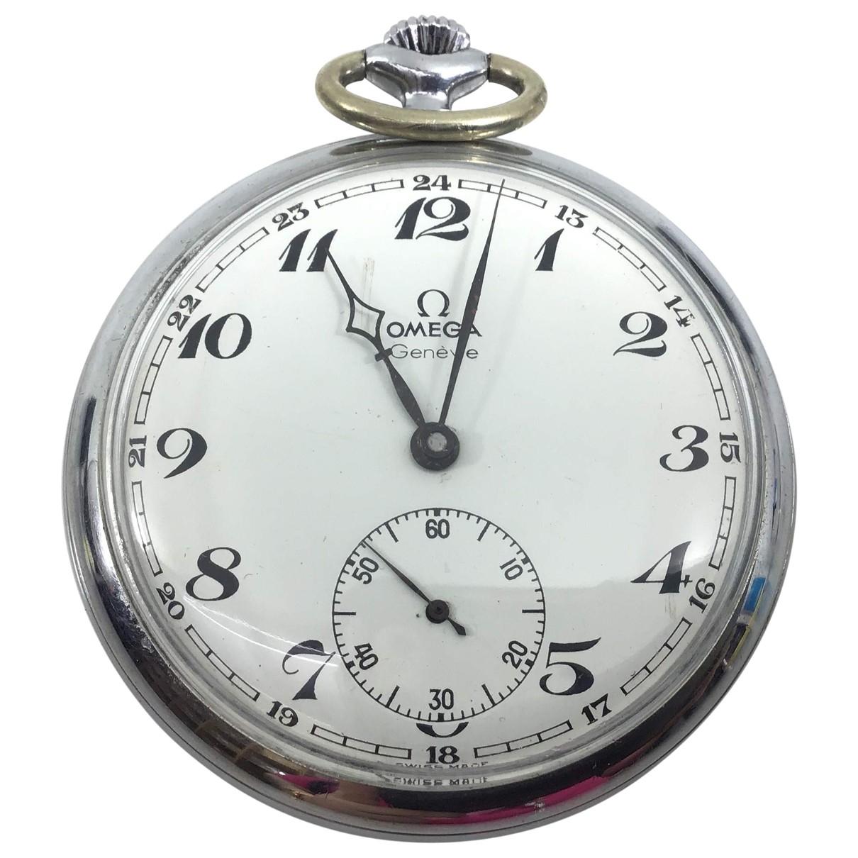 Omega \N Grey Steel watch for Men \N
