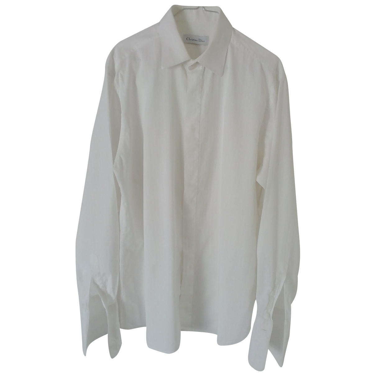Christian Dior \N White Cotton Shirts for Men 15.5 UK - US (tour de cou / collar)