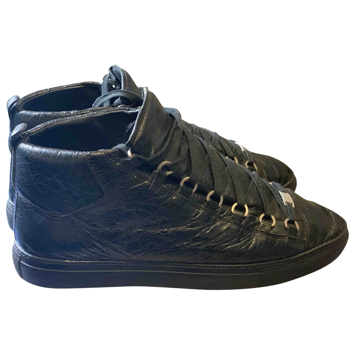 Balenciaga Arena Black Leather Trainers for Men 44 EU