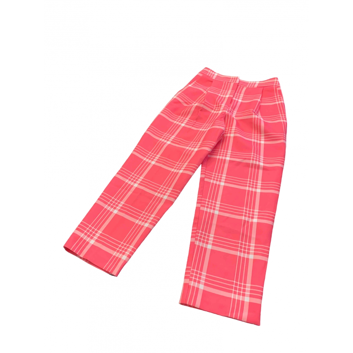 tophop \N Pink Cloth Trousers for Women 32 FR