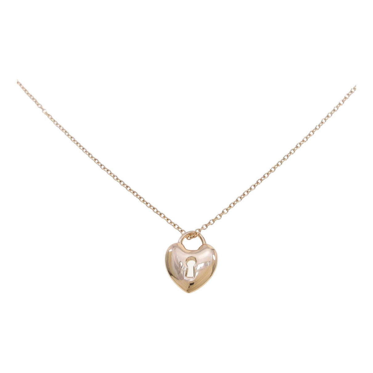 Tiffany & Co \N Silver Pink gold necklace for Women \N