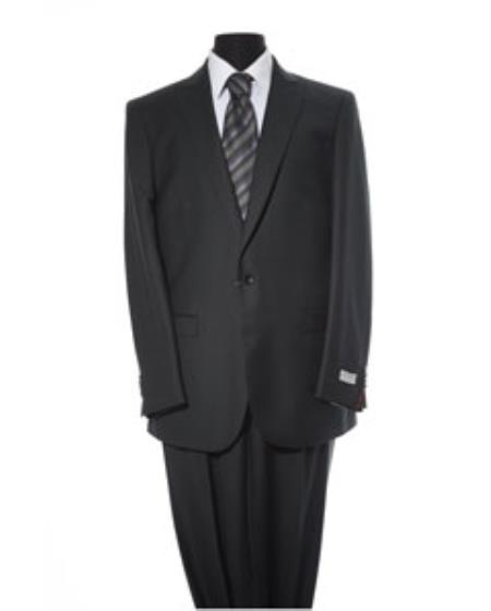 Mens 2 Button Black 2 Piece Suit