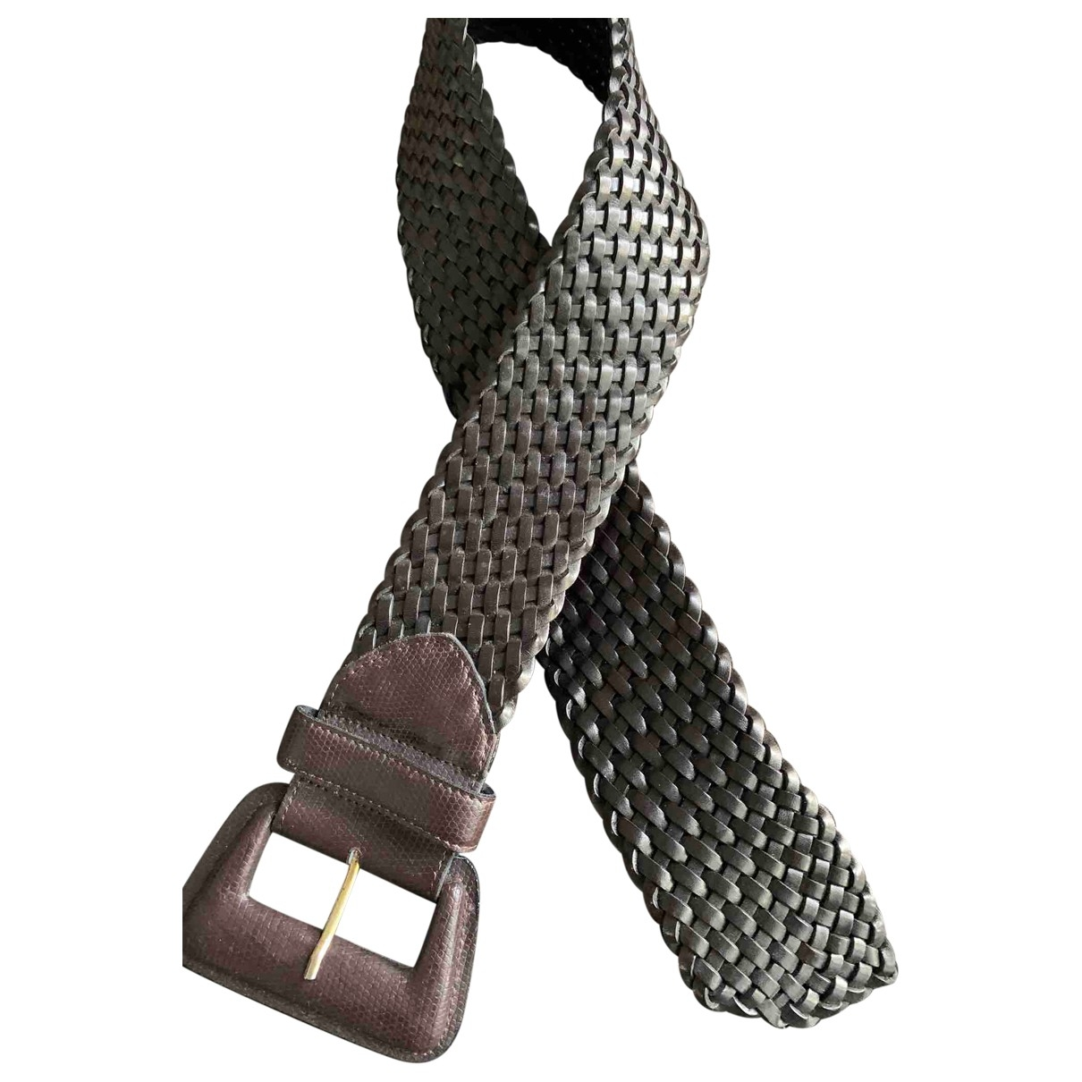 Abaco \N Brown Leather belt for Women 75 cm